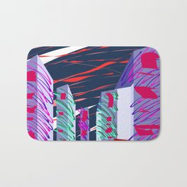 City Sketches and Red Skies Bath Mat