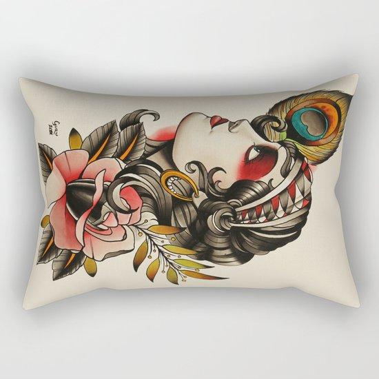 Gipsy girl - tattoo Rectangular Pillow