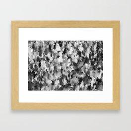 black and white pattern - paint brush design Framed Art Print