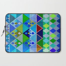 Cobalt Blue Diamond pattern Laptop Sleeve