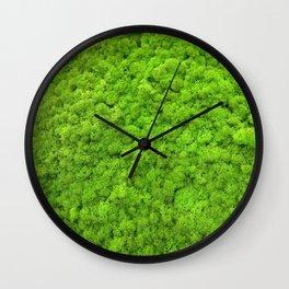 Green Moss Wall Clock