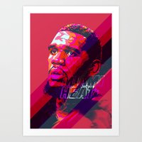 greg guillemin Art Prints featuring GREG ODEN MIAMI HEAT by mergedvisible