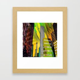 the colored city -4- Framed Art Print