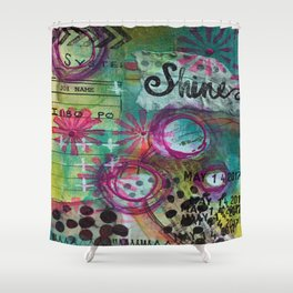 Shine On Teal Shower Curtain