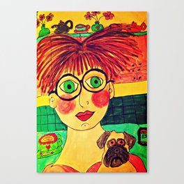 """""""Tallulah and Georgia's Happy Place"""" Canvas Print"""