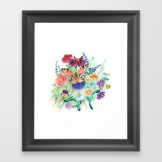 Watercolour Bouquet Framed Art Print