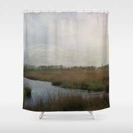 Flat water Landscape Shower Curtain