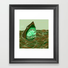 Piano Shark Framed Art Print