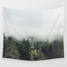 Foggy Treetops Wall Tapestry