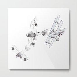 Diving Albatross' - B+W Metal Print
