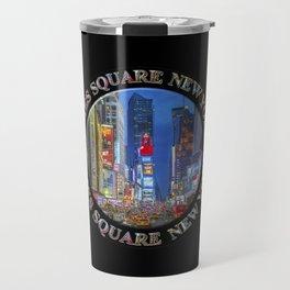 Times Square Broadway New York Badge Emblem (on black) Travel Mug