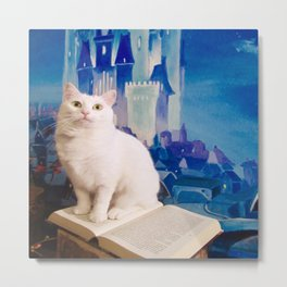 The tale of Tyche the white kitty Metal Print