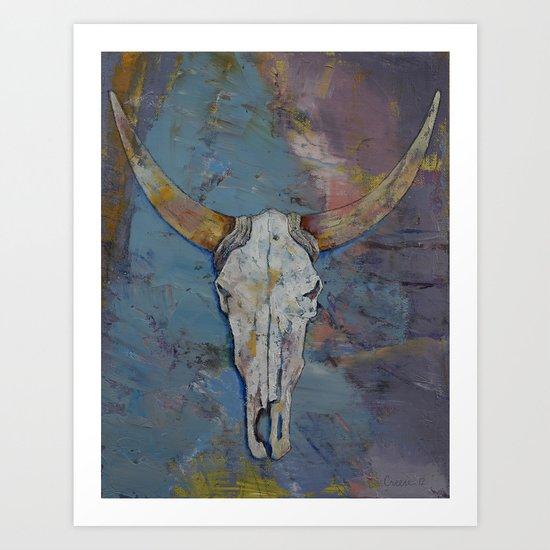 Steer Skull Art Print