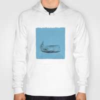 the whale Hoodies featuring whale by Tina Siuda