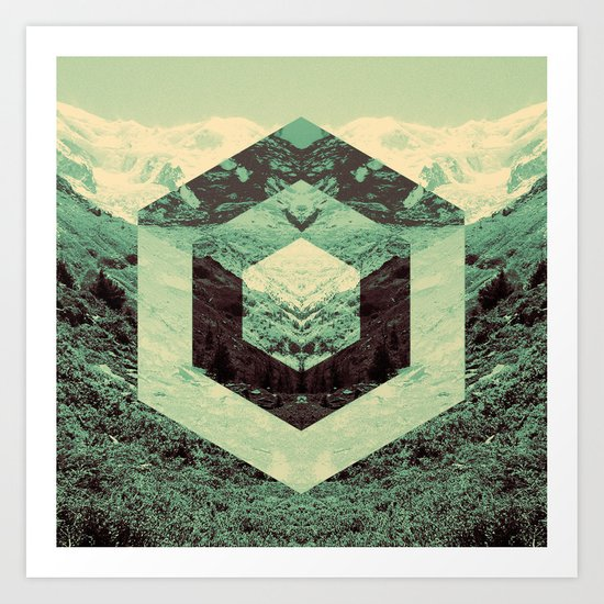 Cube Mountain Art Print