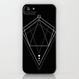 Hologram geometry black iPhone Case