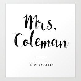 Mrs Coleman Art Print