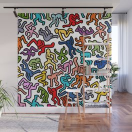 Homage to Keith Haring Color Wall Mural