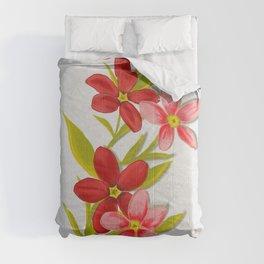 Red floral sprigs  Comforters