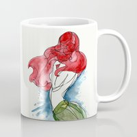 little mermaid Mugs featuring Little Mermaid by Ines92