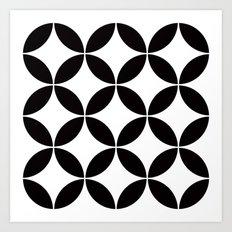 Geometric pattern (circles) Art Print