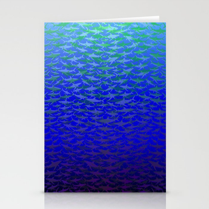 Sharks In Deep Water. Stationery Cards
