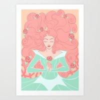 sleep Art Prints featuring Sleep by Taija Vigilia
