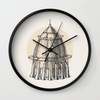 steam punk Wall Clocks featuring Steam punk rocket by Bakani