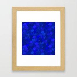 Jellyfish-BLUE Framed Art Print