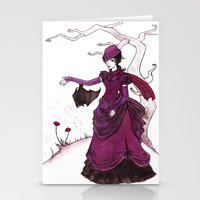 murray Stationery Cards featuring Mina Murray by Lorena Garcia