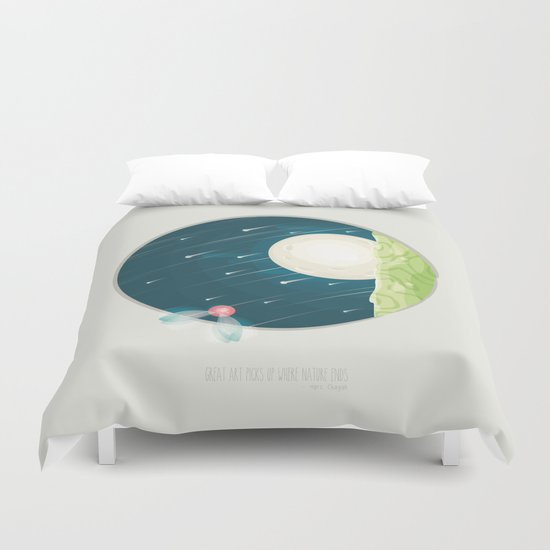 Where nature ends Duvet Cover