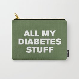 All My Diabetes Stuff (Kale) Carry-All Pouch