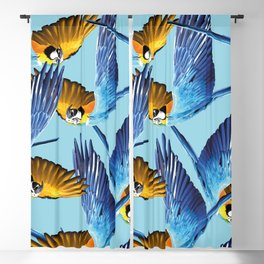 makaw flying pattern blue Blackout Curtain
