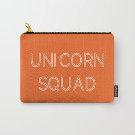 Unicorn Squad - Orange and White Carry-All Pouch