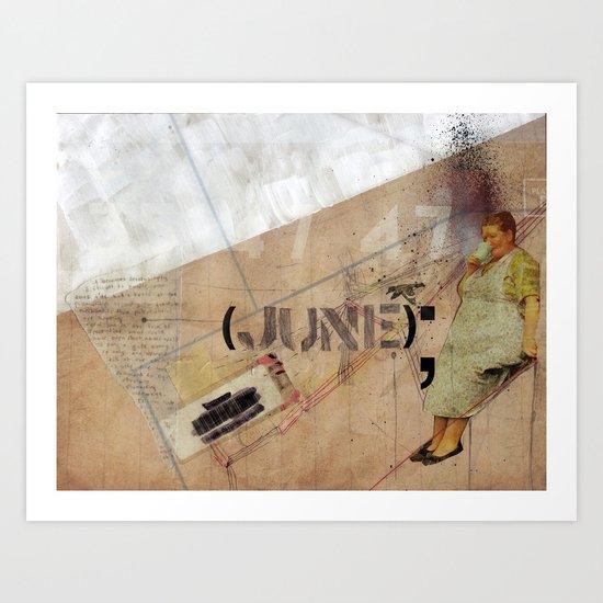 June. Art Print