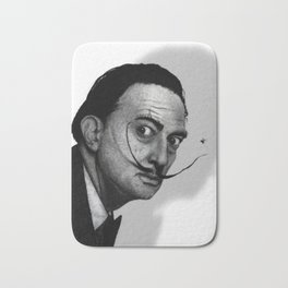 Salvador Dalí (b&w) Bath Mat