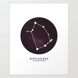 Ophiuchus - Star Constellation Art Print