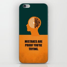 Lab No. 4 -Mistakes are proof you're trying corporate start-up quotes Poster iPhone Skin