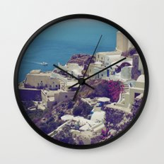 Oia from afar  Wall Clock