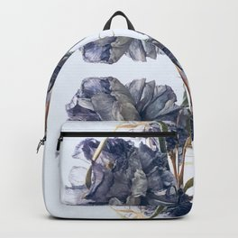 Blue Toile Backpack
