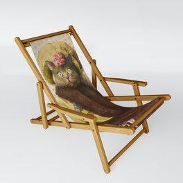 Lady Vanderkat with Roses Sling Chair