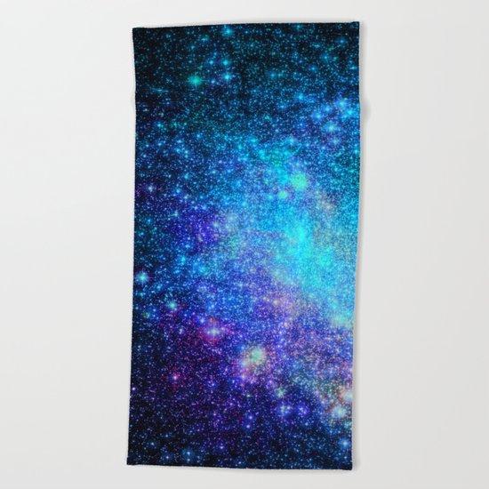 Magical Nebula Universe Beach Towel