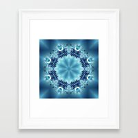 snowflake Framed Art Prints featuring Snowflake by Mr. Pattern Man