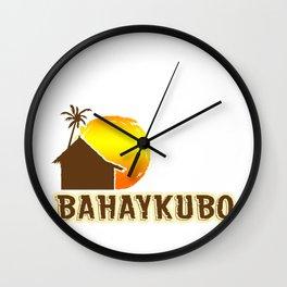 Bahay Kubo Philippines Filipino Tagalog Sun Gift Wall Clock