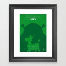 No280 My SHREK minimal movie poster Framed Art Print