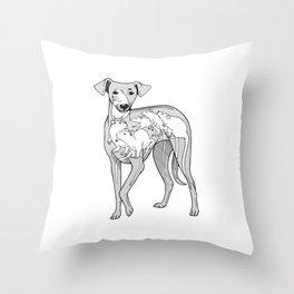 POPPYDOG Throw Pillow