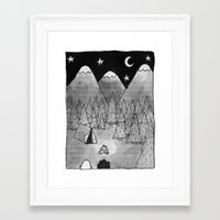 camping Framed Art Prints featuring Camping. by Caleb Boyles