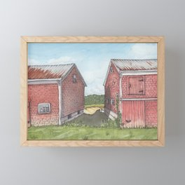 Between Two Barns Framed Mini Art Print