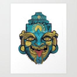 Morpho Mask Art Print