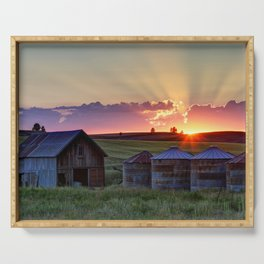 Home Town Sunset Serving Tray